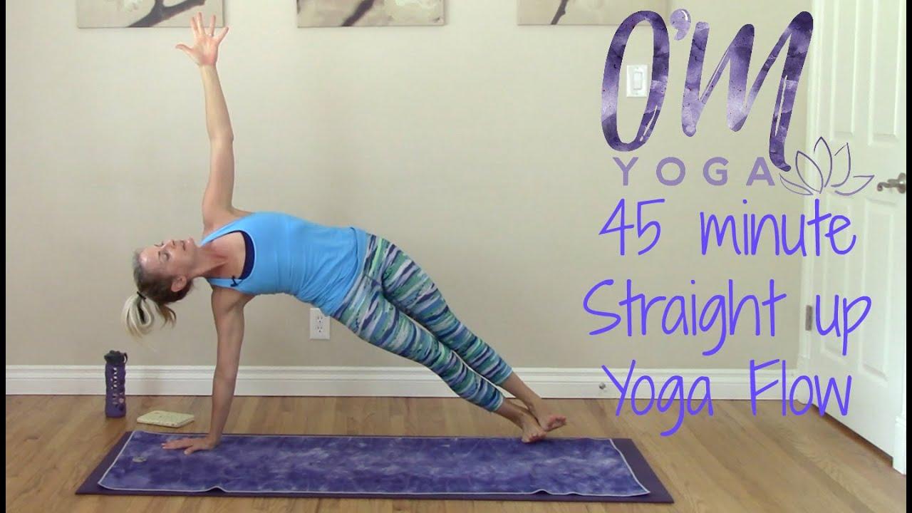Power Vinyasa Yoga Flow - 45 minute Straight up Flow - YouTube