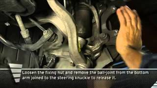 BMW 525D front shock absorber replacement procedure