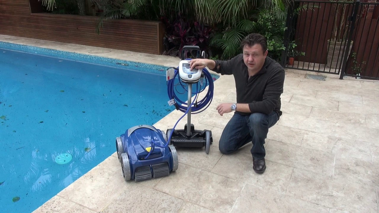 Zodiac V4 Robotic Pool Cleaner Youtube
