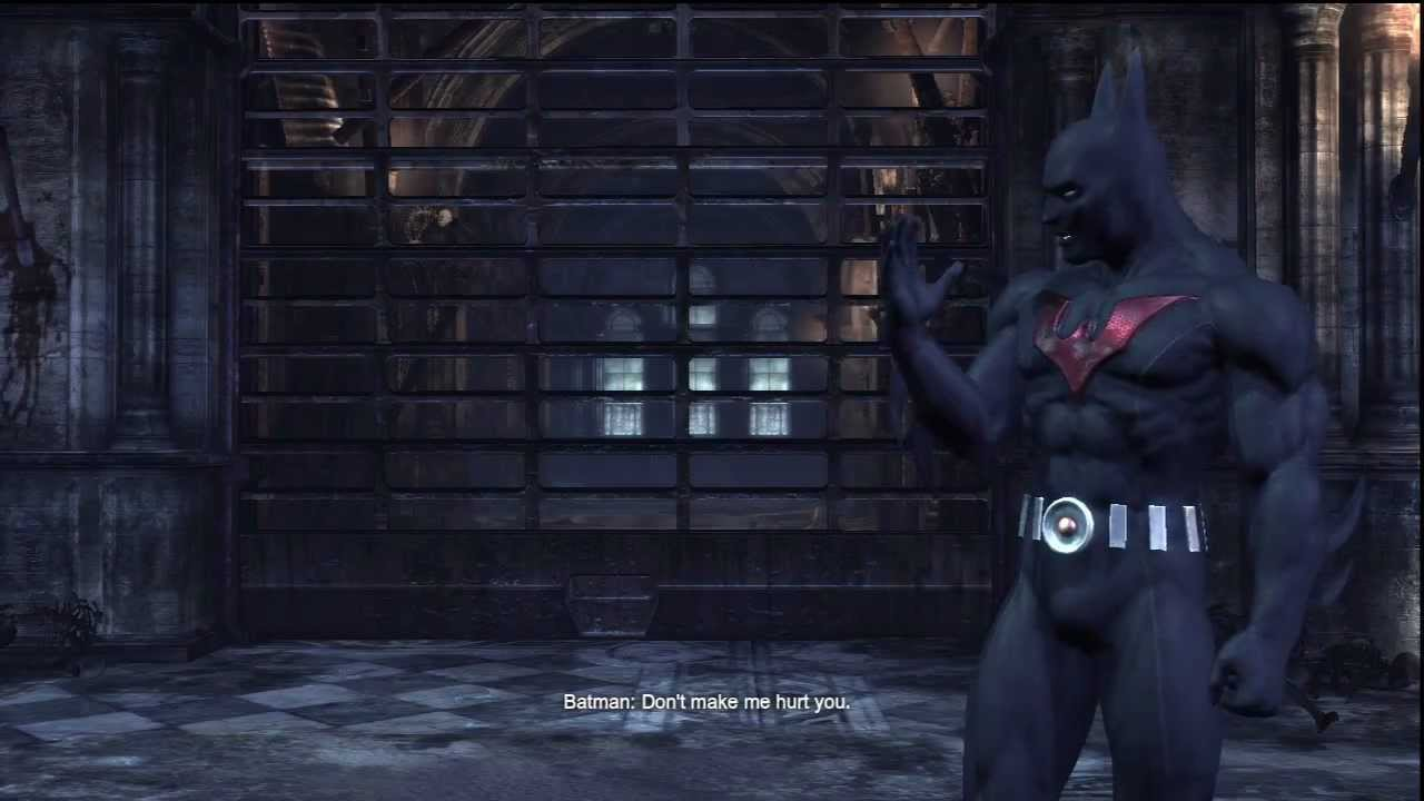 Batman Arkham City:Batman Beyond Skin Gameplay - YouTube
