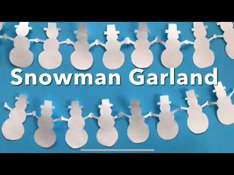 Paper Snowman Garland