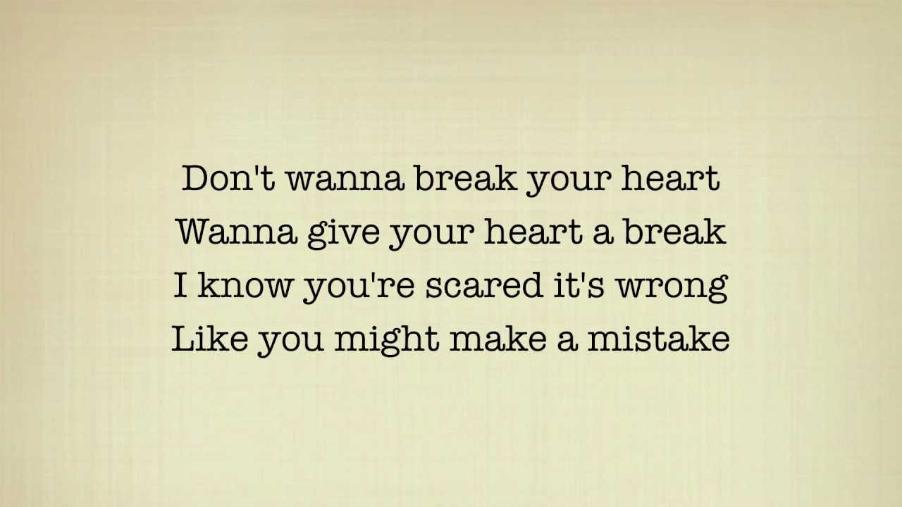 Demi Lovato Give Your Heart A Break Lyrics Guy Version Youtube