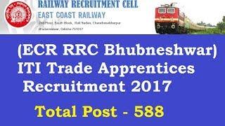 rrc bhubaneswar ecr apprentice recruitment 2017 online form sarkaari result