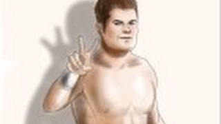 How to draw Evan Bourne from WWE