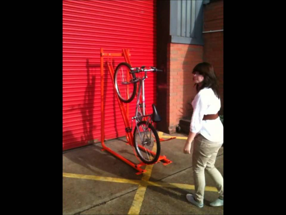 Allpark Semi Vertical Cycle Rack Youtube