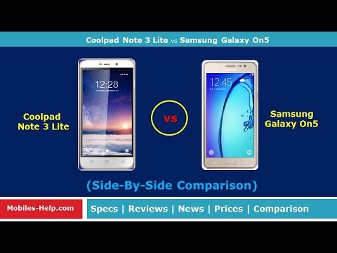 coolpad note 3 lite vs samsung galaxy on5 quick review youtube. Black Bedroom Furniture Sets. Home Design Ideas