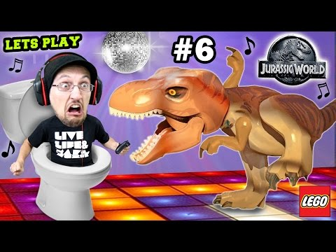 Lets Play LEGO Jurassic World Part 6: ♫ DINO Dance Moves ♫ w/ Scary Ending! (THE END, Seriously!)