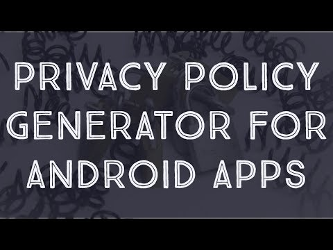 Privacy Policy For Android App | Privacy Policy Generator For Apps | Google Play Store App