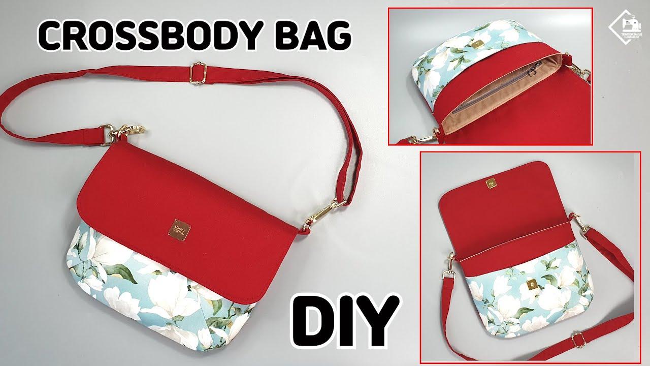 DIY Round Crossbody Bag / Cute shoulder bag/  Free pattern / sewing tutorial [Tendersmile Handmade]