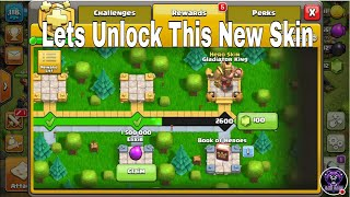 Claiming All reward Of Golden Pass In Clash Of Clans And Unlock New Skin