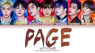 All rights administered by jyp entertainment • artist: got7 (갓세븐) song ♫: page album: 'spinning top : between security & insecurity' released: 19.05.20...