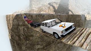 Обрыв Смерти! Подвесной Мост Через Ущелье | Beamng.Drive
