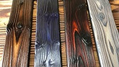 DIY Wood Burning Technique - That's not Shou Sugi Ban! Or is it??