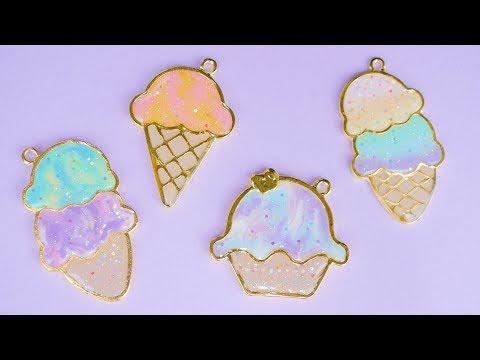 Pastel Ice Cream UV Resin Charms | Watch Me Craft