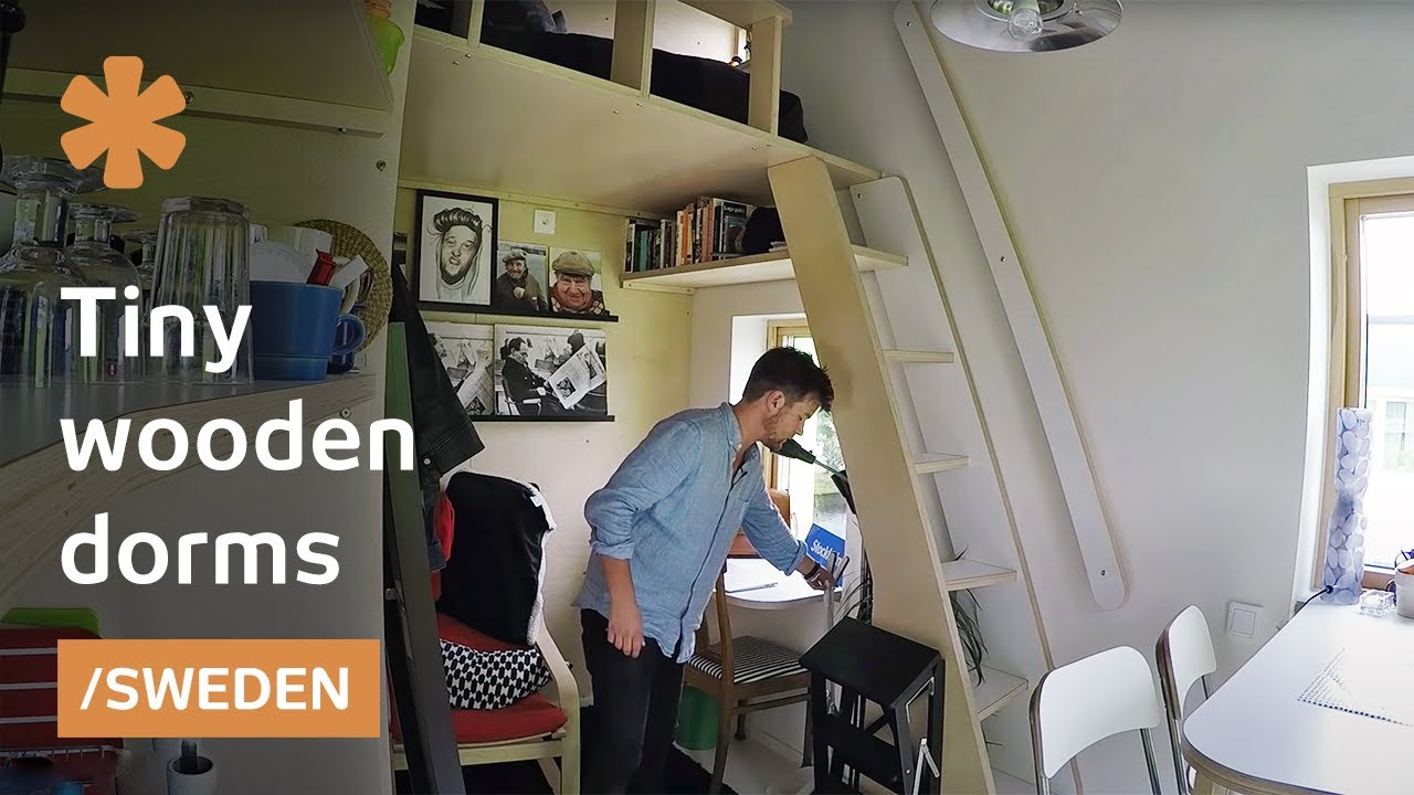 Sweden Tests Tiny Wooden Pods As The Future Of College Dorms