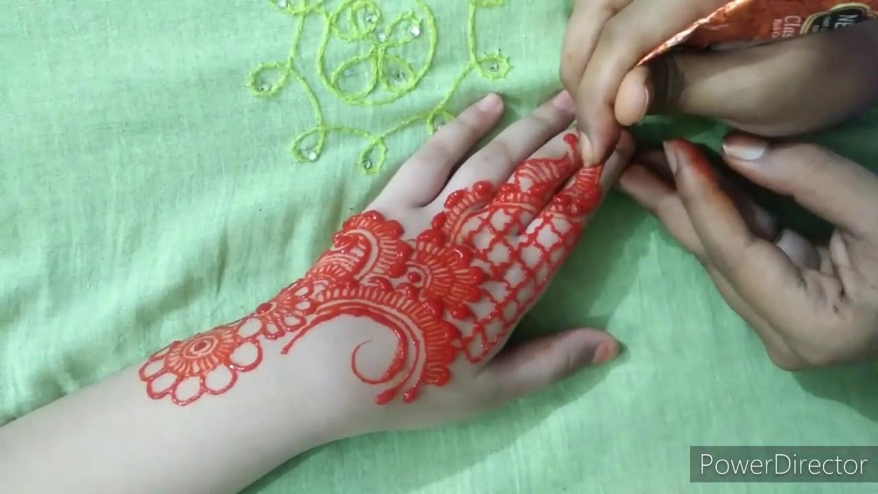 Arabic Mehndi design for hand 💜 Mehndi Art Center 💜 - YouTube