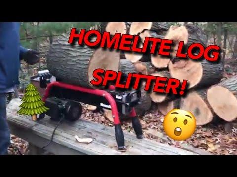 Homelite log splitter review!  Ryan's Reviews