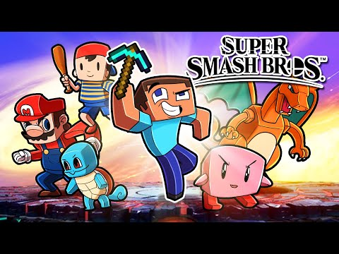 I Create SUPER SMASH BROS in Minecraft! (Scramble Craft) |