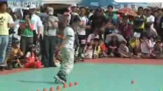 2007年韩国自由式平地花式轮滑比赛冠军中国女孩许馨雨