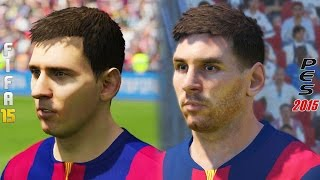 Fifa 15 vs PES 2015 Head to Head Faces | Barcelona Face Comparison | Next Gen HD 1080p Thumbnail
