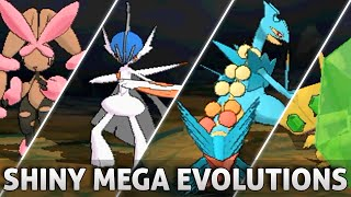 Pokemon Omega Ruby and Alpha Sapphire: All SHINY Mega Evolutions!