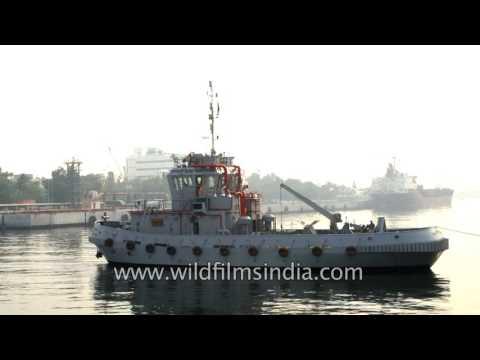 INS Sukanya and INS Sumedha anchored at Naval Dockyard, Visakhapatnam