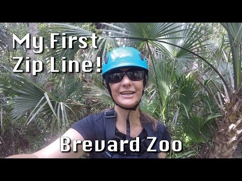 My First Zip Line! Brevard Zoo Adventure
