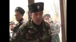 Эфир Валерия Донского: Казаки вводят в Крымске цензуру(Крымские казаки устроили несанкционированный митинг в фойе телерадиокомпании