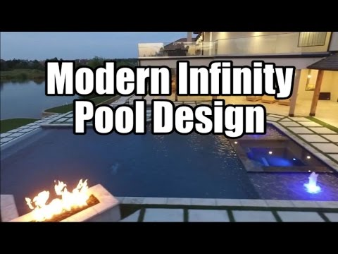 Modern Infinity Pool Design - YouTube