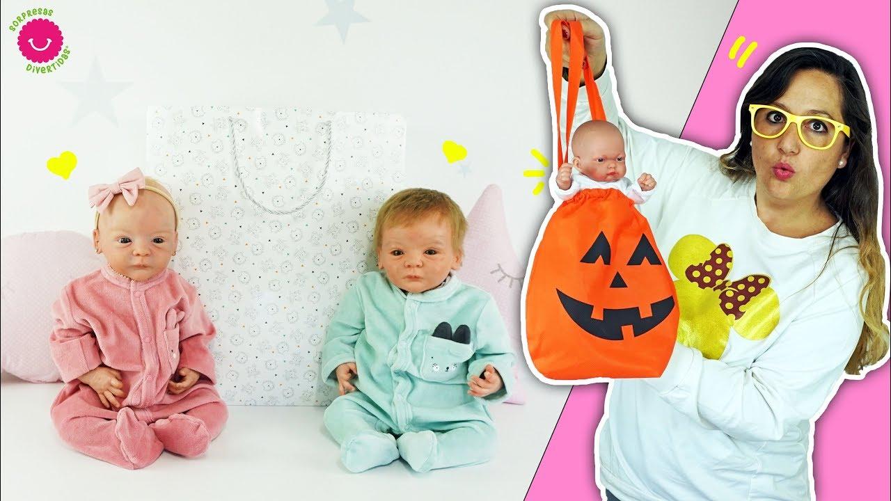 Haul de ROPA para bebés LINDEA y LEO + Juguetes de Halloween para BEN