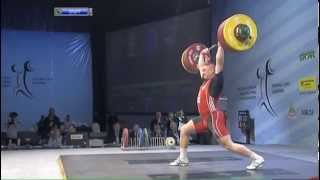 Men 105 kg clean & jerk European Weightlifting Championships Tirana 2013