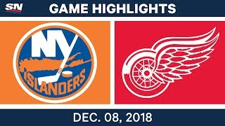 NHL Highlights | Islanders vs. Red Wings - Dec 8, 2018