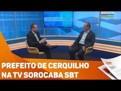 Prefeito de Cerquilho na TV Sorocaba SBT - TV SOROCABA/SBT
