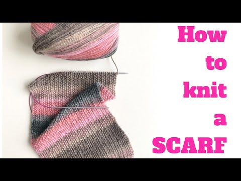 HOW TO KNIT A SCARF - Hayfield Scarf | TeoMakes