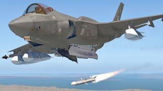 造價上億的美軍F-35A隱身戰機 美國與其盟國21世紀的主力戰機 F-16系列 A-10攻擊機 F/A-18系列 AV-8B等機型將被取代