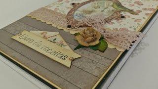 DIY   Tutorial - Caderno Decorado Vintage - Customized Notebook