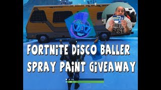 FortNite Disco Baller Spray Paint Giveaway