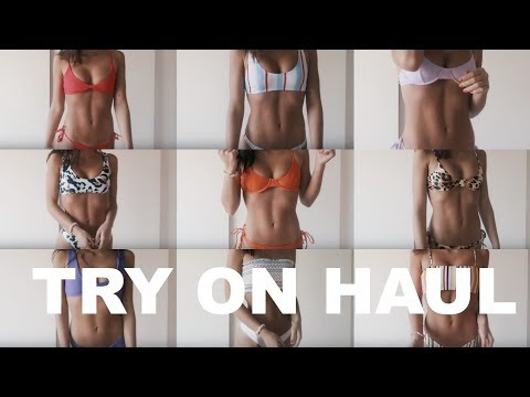 all the bikinis I wore in Hawaii + more | TRY-ON HAUL