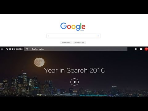Google Year in Search 2016 -India