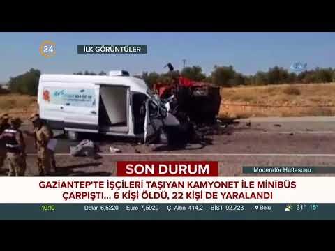 Gaziantep'te feci kazadan ilk görüntüler