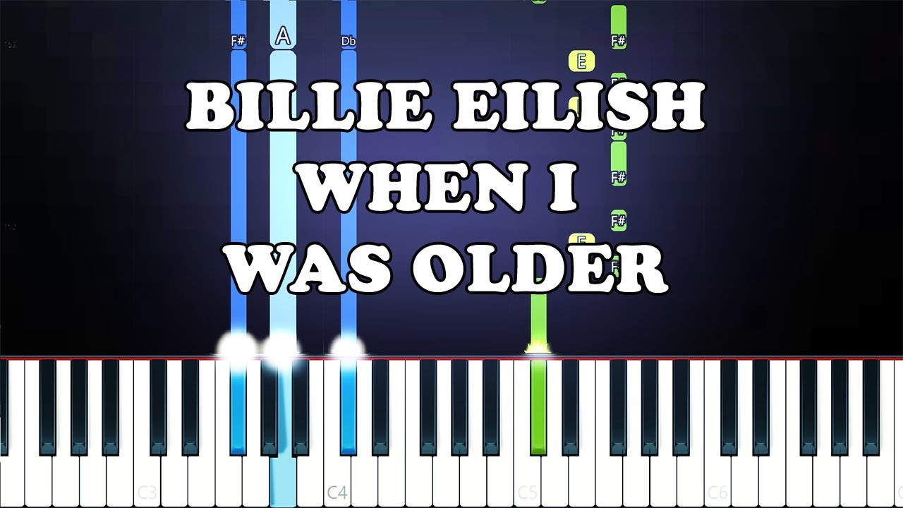 Billie Eilish - WHEN I WAS OLDER (PIANO INSTRUMENTAL) For Cover Artists