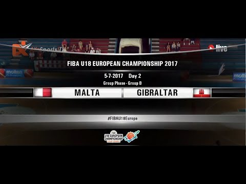 FIBA U18 EUROPEAN CHAMPIONSHIP | 05July2017  MALTA vs GIBRALTAR 1st half