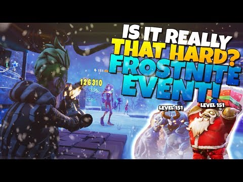 IS IT REALLY THAT HARD!? *NEW* FROSTNITE EVENT! | Fortnite STW