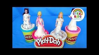 Princess Play-doh Wedding Dresses أميرات ديزني   Syraj Kids   Play & Learn Arabicnull