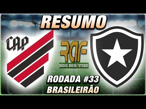 AthleticoPR x Botafogo Ao Vivo l Campeonato Brasileiro l Rodada 33