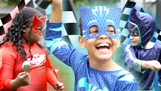 PJ Masks in Real Life: Catboy's Race and Rescue 🏁 PJ Masks