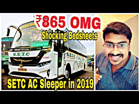 SETC AC Sleeper In 2019   ₹865 Is It Worth ?   Bus Reviews   Coimbatore To Chennai  Travel Vlogs 