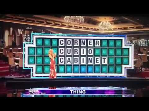 Wheel of Fortune 1 Million Dollar loss Corner Curio Cabinet
