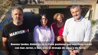 Paso peatonal entre Pozo Aledo y San Javier