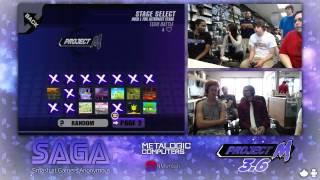 SAGA - Space Jam(Lucario,Peach) vs. Black&Yellow(Ganon,Bowser,Zelda) - Winners - Project M